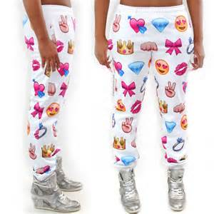 colorful joggers joggers emoji print colorful sweatpants sweats