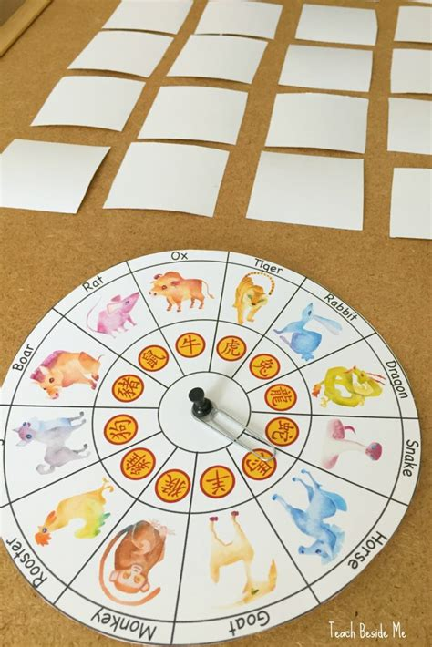 new year animals preschool new year zodiac matching teach beside me