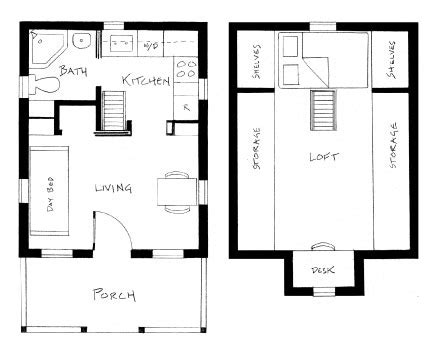 300 sq ft house floor plan living small tumbleweed tiny houses