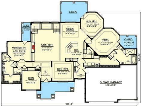 ranch house plans with in law suite ranch house plan with in suite 89976ah 1st floor master suite butler walk in pantry