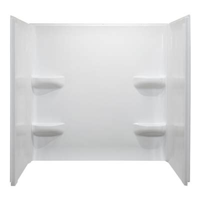 shop style selections almond acrylic bathtub wall surround style selections 30 in x 60 in elegance white acrylic