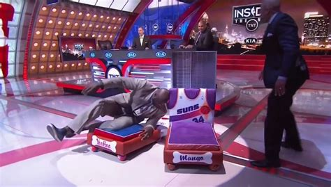 shaquille o neal bed shaq breaks one of charles barkley s dog s beds by laying
