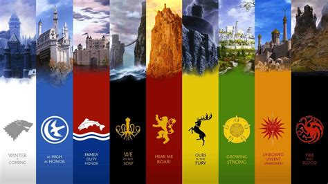 houses in game of thrones sigils in game of thrones medieval marketing history behind game of thrones