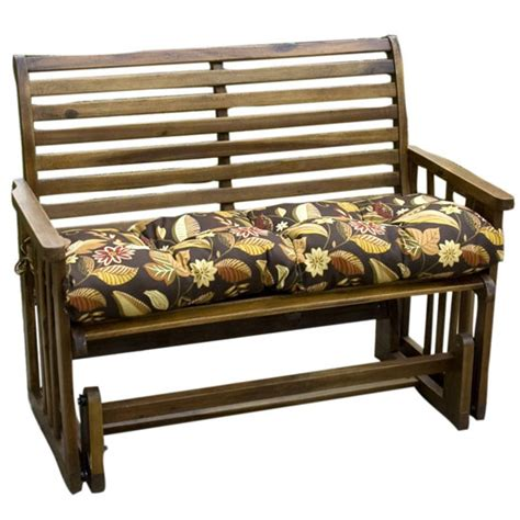 46 inch bench cushion stay outdoor comfortably sitting on a bench with the