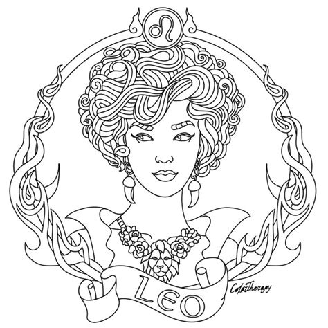 Leo Coloring Pages leo zodiac pages for adults coloring pages