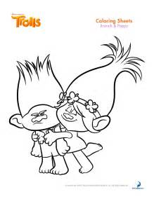 trolls coloring sheets and printable activity sheets and a movie review
