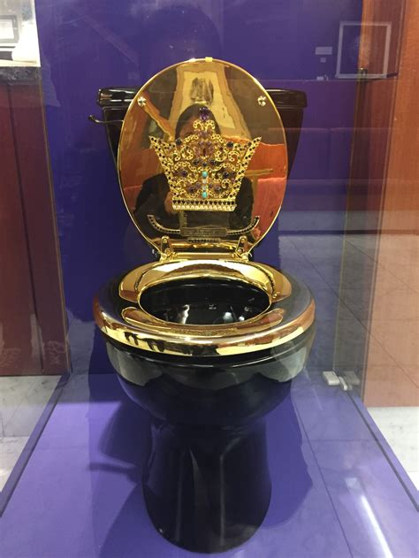 golden toilet from teeth to toilets this dazzling exhibit of gold