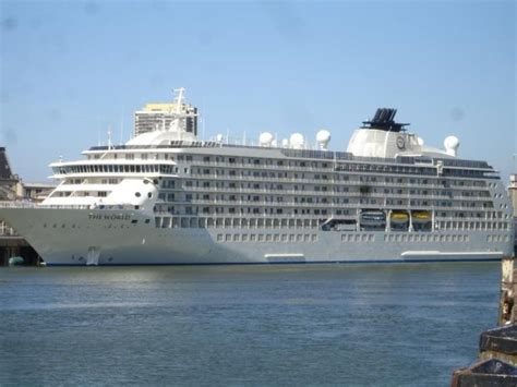 cruise ship the world the world s largest residential cruise ship takes
