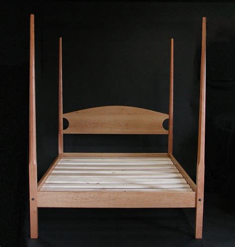 traditional custom made turned pencil post bed from the handmade maple pencil post bedframe queen by edward