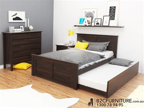 Double Trundle Bed Bedroom Furniture | bedroom suites trundle double melbourne b2c furniture