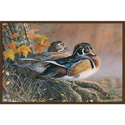 Duck Rug by Wood Duck Rug Product Muleymadness