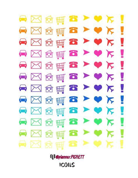 free printable planner icons planner pickett simple free printable icons planner