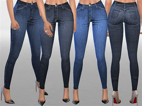 sims 4 high waisted jeans the sims resource indigo high waist skinny jeans by