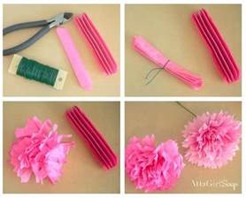 How To Make Flowers Out Of Tissue Paper - how to make tissue paper flowers atta says