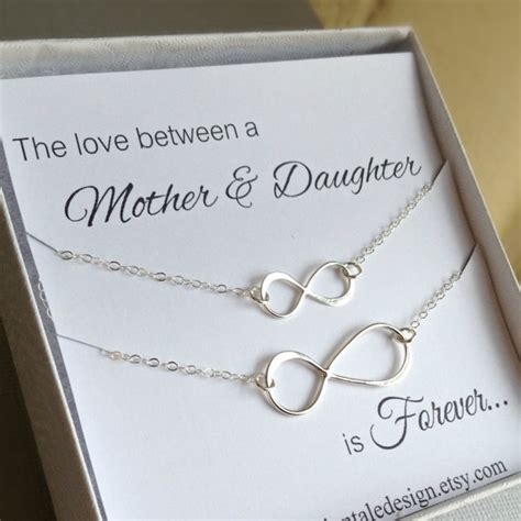 Christmas Gifts For Mom From Daughter | mother daughter necklace set infinity necklace set