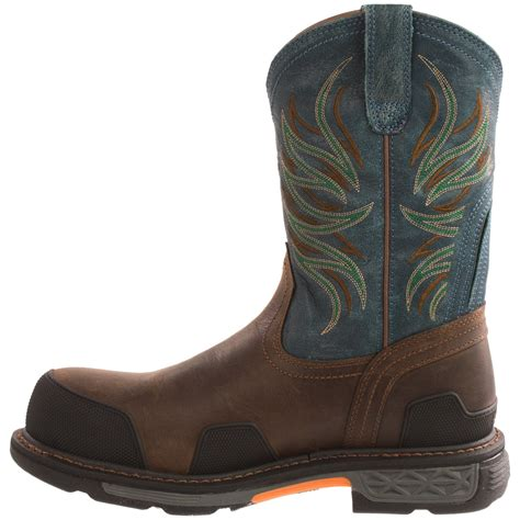ariat overdrive work boots ariat overdrive pull on work boots for 9405g save 40