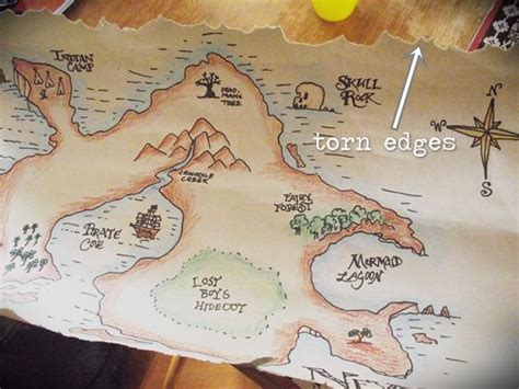 make a map make an ancient looking map of neverland 5 steps with pictures