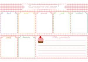 Calendrier Hebdomadaire à Imprimer Planning Vierge Menu De La Semaine Recettes Cookeo