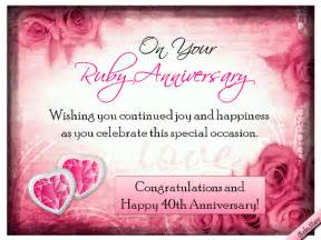 ruby anniversary wishes free milestones ecards greeting cards 123 greetings