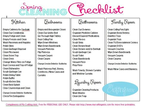 spring cleaning checklist going green with your spring cleaning schedule free
