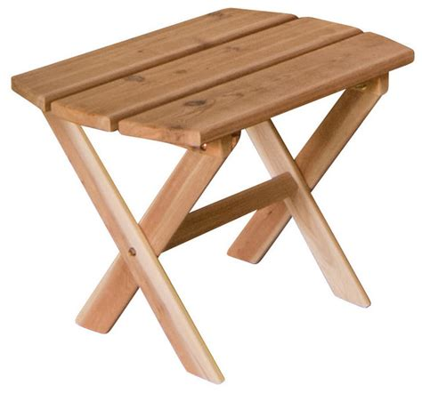 Folding Outdoor Side Table Outdoor Cedar Folding End Table Stain Linden Leaf Stain Farmhouse Outdoor Side Tables By
