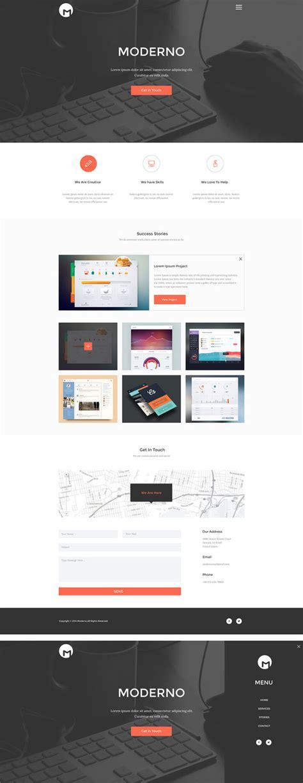 Moderno Free Creative Psd Portfolio Template Free Download Creative Portfolio Template Free