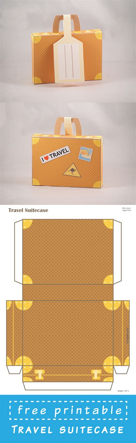 suitcase box template diy printable travel suitecase with address tag m gulin