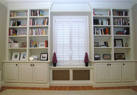 Built In Bookcases Ideas For Small Space Built In White Bookcases