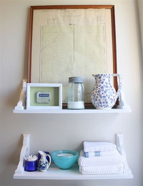 Vintage Bathroom Shelves Vintage Inspired Diy Shelves Hometalk