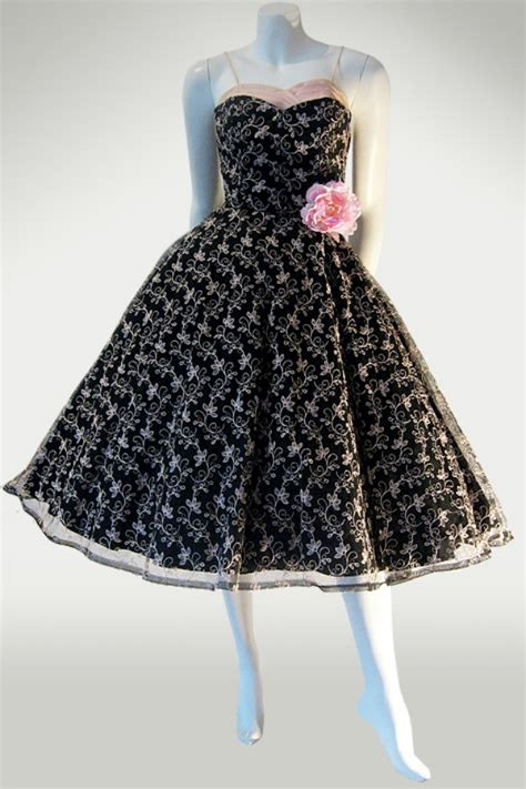 50s prom dress by junior theme ny vintage clothing