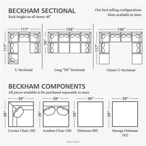 beckham pit sectional bassett beckham 3974 3974 psect custom modular pit