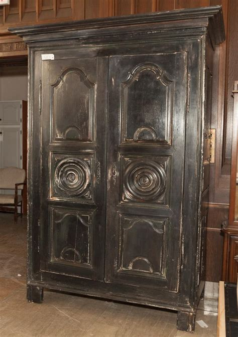 antique painted armoire antique french black painted armoire