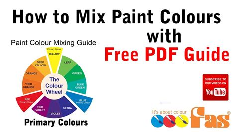 how to mix paint colours tutorial with free pdf