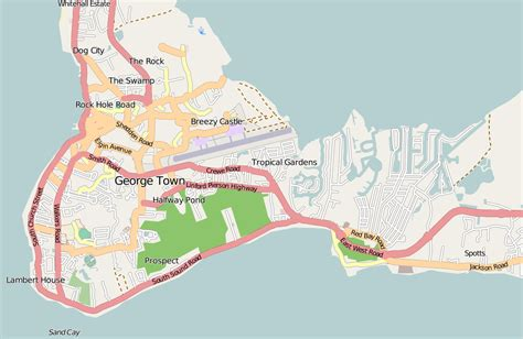 map of cayman islands george town cayman islands