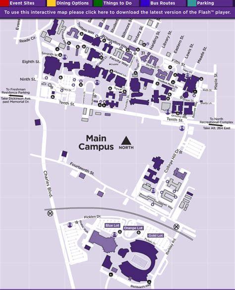 carolina college map ecu cus map image search results