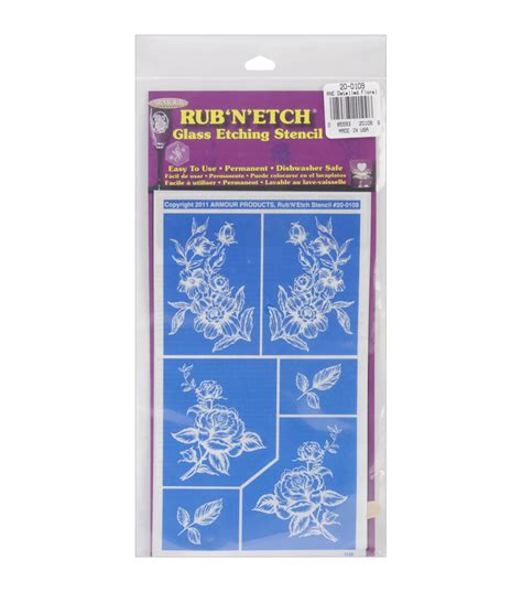 glass etching templates for free rub n etch glass etching stencils 4 at joann