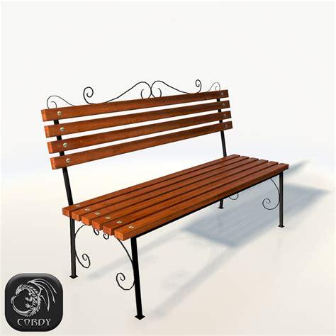 3d bench model 3d park bench model
