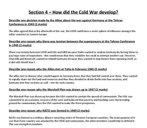 Cold War Essay Questions by Cold War Essay Questions