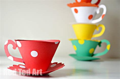 How To Make Paper Tea Cups - paper teacup printable tea ted s