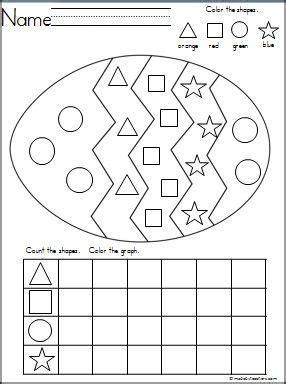 easter egg shapes graph kindergarten activities easter