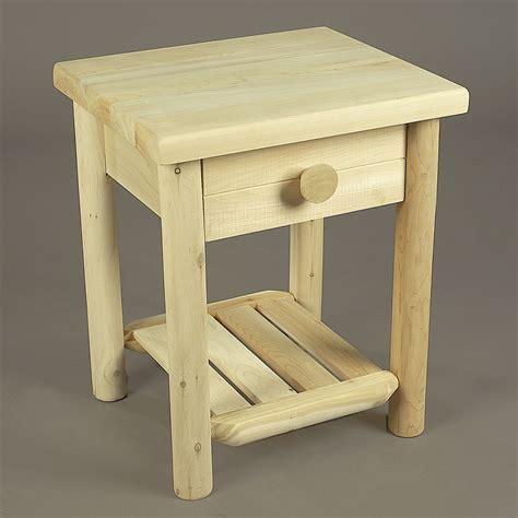 Cedar Nightstand by Cedar Log Nightstand With Drawer In Nightstands