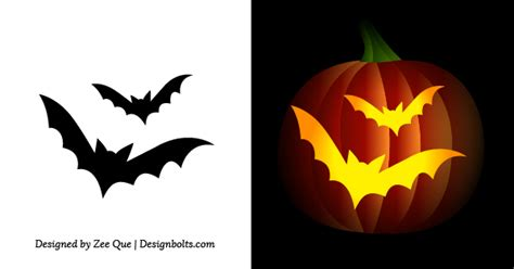 free printable scary pumpkin carving pattern designs