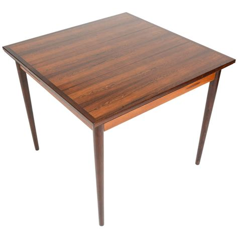 Square Table With Leaf by Rosewood Square Draw Leaf Dining Table For Sale At 1stdibs