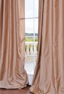 Blush Pink Curtains My Dusty Pink Silk Curtains That Puddle For The Home Blush Pink The