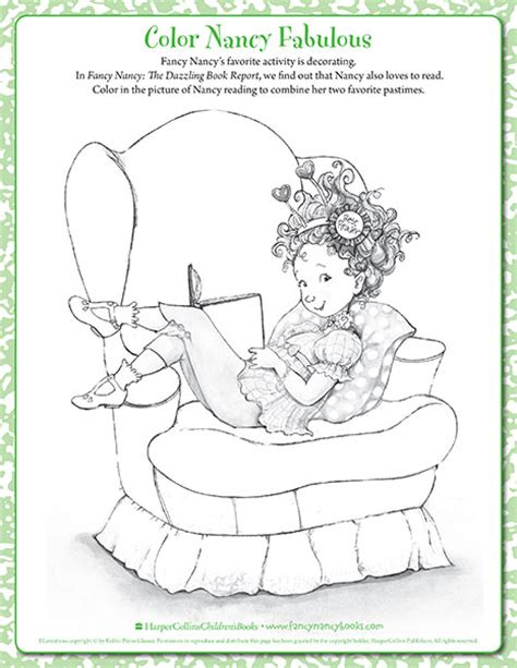 fancy nancy coloring pages fancy nancy printable activities fancynancyworld