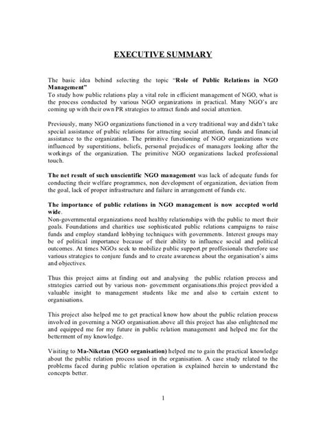 Relations Duties by Of Relations In Ngo Management