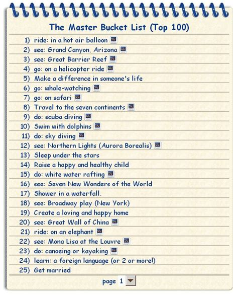 8 Things Id Like To About by 100 Things To Do Before You Die Things I Like To Think