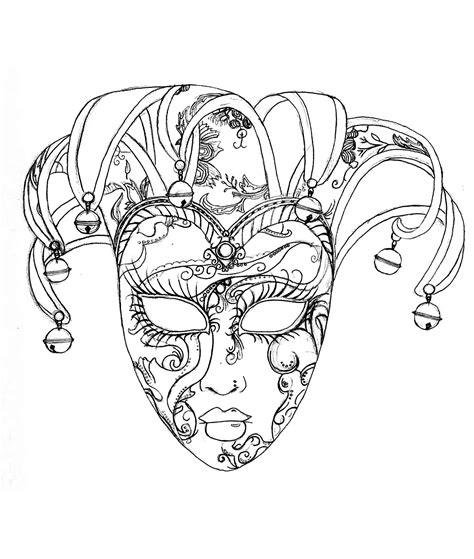 Masque Du Carnaval De Venise F 234 Tes Coloriages