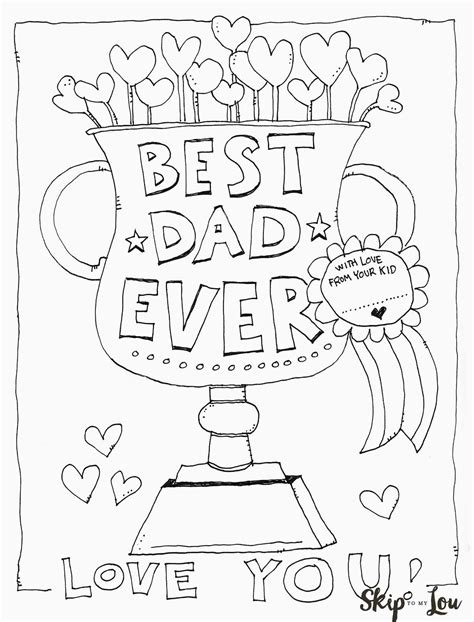 coloring page father s day card free printable dad coloring page for father s day this