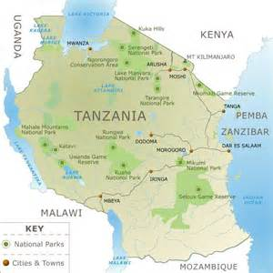 Tanzania Africa Map by Map Of Tanzania Africa Now This Is Me Pinterest